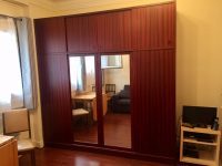 Large closets with full length mirrors