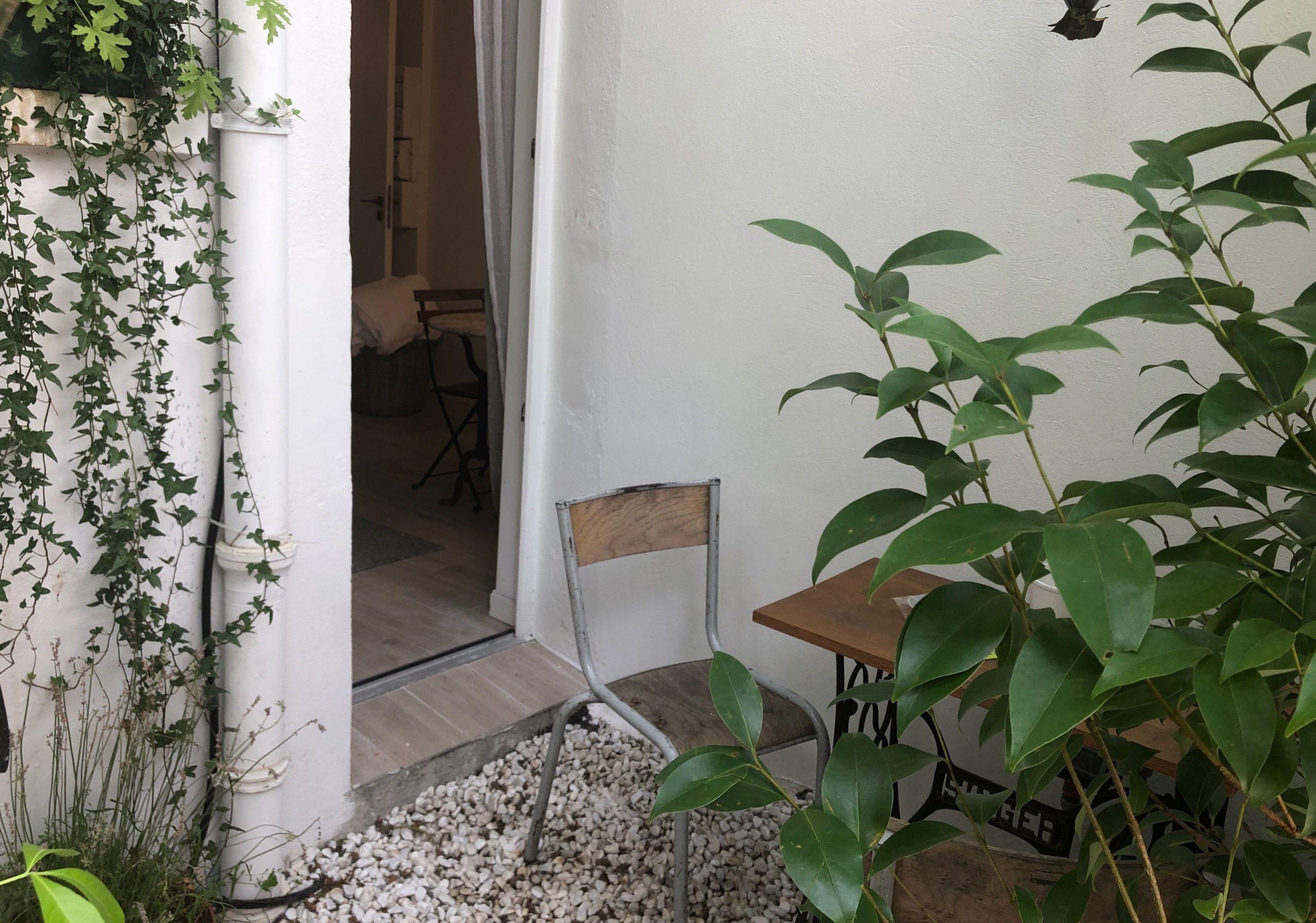 Designer studio with garden
