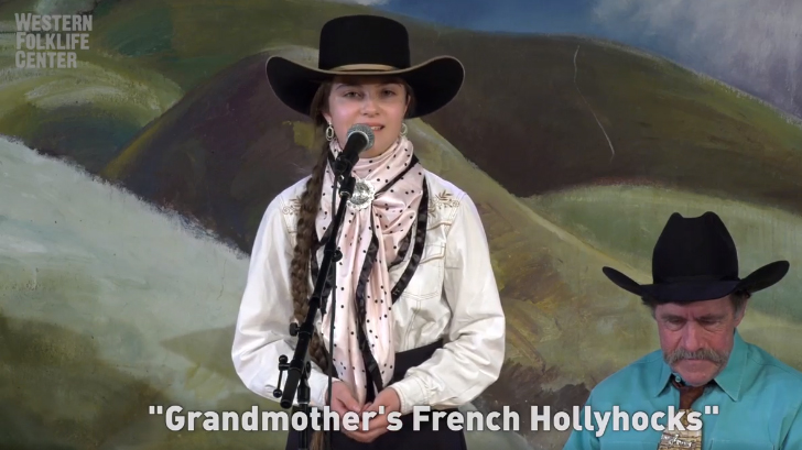 French Hollyhocks